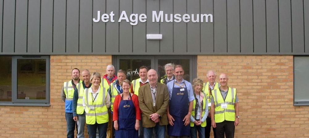 Jet age museum volunteers